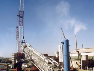 Industrial air separation plant being installed in South Africa